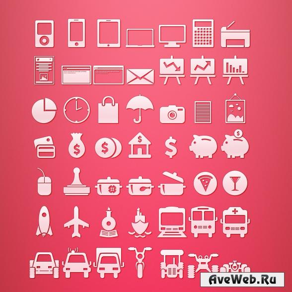 Белые иконки для сайта