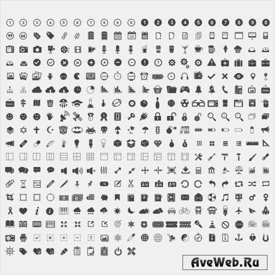 Огромная подборка черно-белых иконок