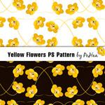 Заливки для Photoshop желтые цветы