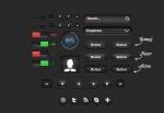Темные кнопки и иконки на сайт