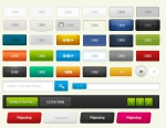 Кнопки и значки на сайт в PSD