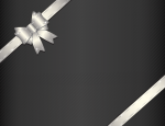 Темный фон с серебряным бантом
