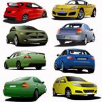 Автомобили в векторе