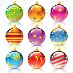 Новогодние шары в векторе