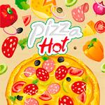 Пицца в векторе