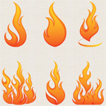 Пламя в векторе