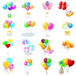 Воздушные шары в векторе