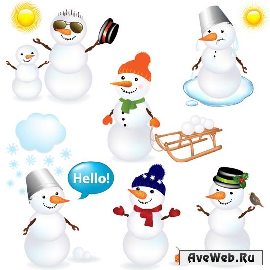 Векторный снеговик